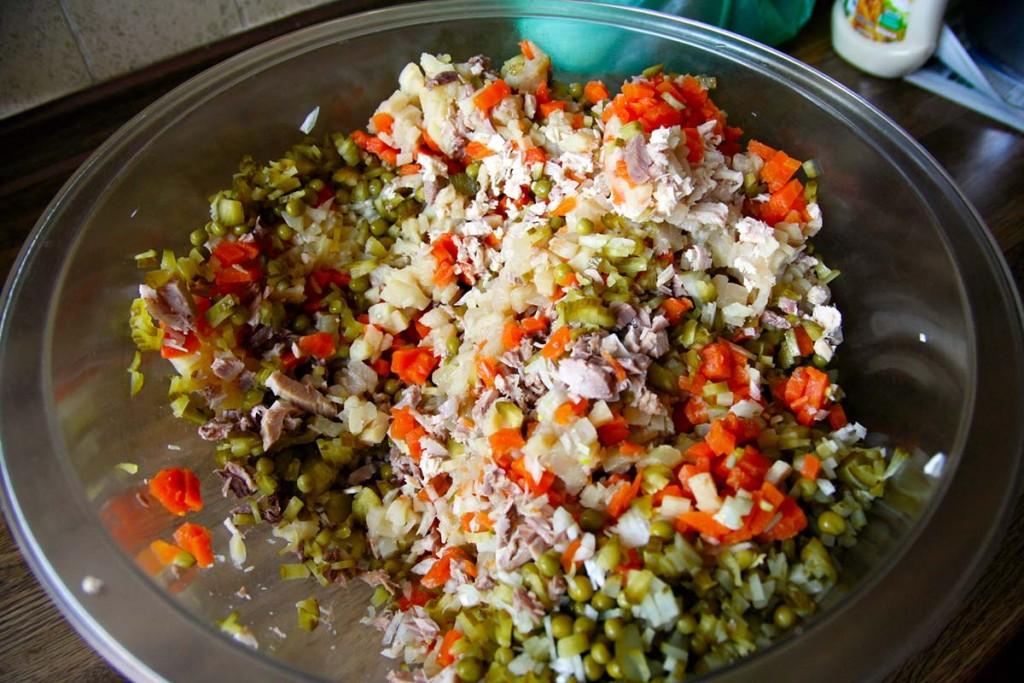 Die einzelnen Zutaten des Boeuf Salata