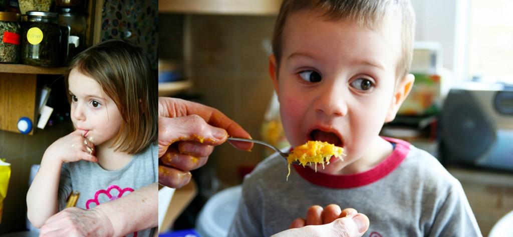 Orangentorte in the making schmeckt jedem. Nicht im Bild: Die naschende Fotografin.