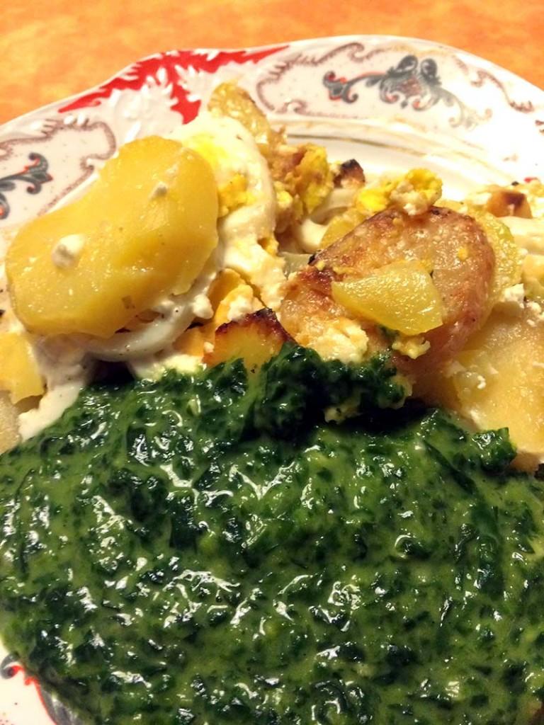 Spinat - Rakott krumpli spenotal